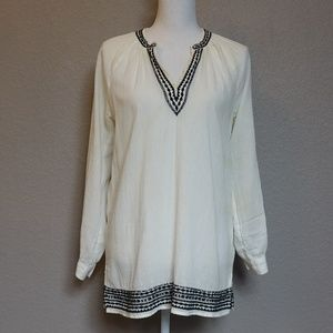J.CREW  peasant boho tunic top blouse